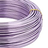 BENECREAT 180 Feet 12 Gauge Jewelry Craft Wire Aluminum Wire Bendable Metal Sculpting Wire for Bonsai Trees, Floral, Arts Crafts Making, Plum