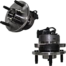 Detroit Axle - 4-LUG Front Wheel Hub and Bearing Assembly Pair for 4-Wheel ABS Models - 2005-10 Chevy Cobalt - [2007-10 Pontiac G5] - 2005-06 Pontiac Pursuit - [2003-2007 Saturn Ion]