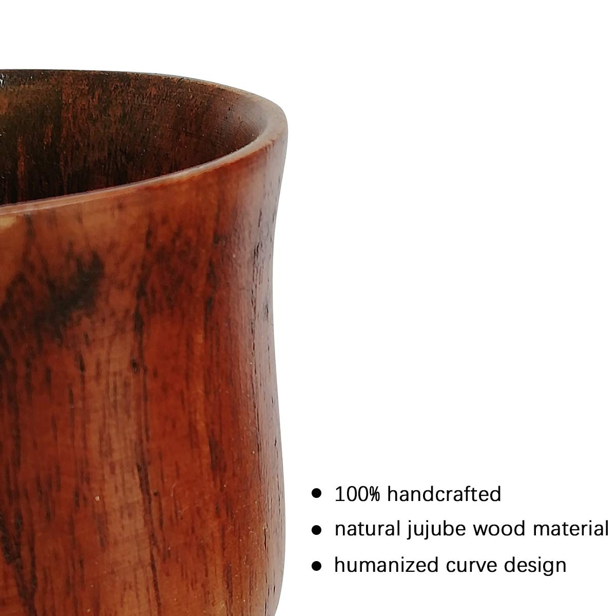 Details about  /Tea Cup Natural Classical Handcrafted Jujube Cup Beer Coffee Milk Juice Wood Cup