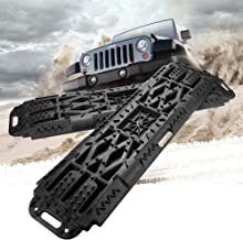 BUNKER INDUST Off-Road Traction Boards with Jack Lift Base, 2 Pcs Recovery Tracks..