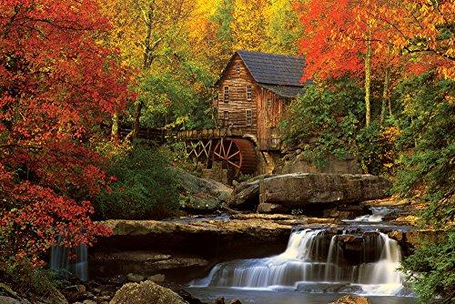 empireposter landschappen bossen Old Mill oude molen poster print formaat 91,5 x 61 cm, papier, kleurrijk, 91,5 x 61 x 0,14 cm