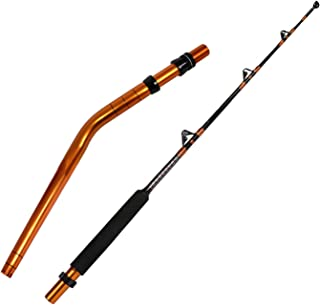 Fiblink Bent Butt Fishing Rod 2-Piece Trolling Rod Saltwater Offshore Big Game Roller Rod Conventional Boat Fishing Pole