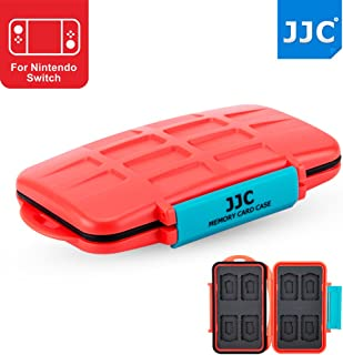 JJC 8+8 Slots Game Card Case Memory Card Protector for 8 X Game Card (Nintendo Switch : Pokken Tournament Dx/Sony Playstation PS VITA : Assassin's Creed III) + 8 X Micro SD/MSD Memory Card, Orange