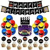 Friends Birthday Party Decoration Set TV Show Suministros de Decoración para Fiestas que incluyen Pancartas de Cumpleaños Adornos para Cupcakes y Coloridos Globos de Látex para Niños Adultos Fans