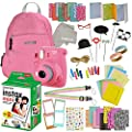 Instax Mini 9 Camera Travel Bundle - 60 Piece Accessory Kit with Shoulder Bag, 20 Sheets of White Instant Film, Lens Cleaning Cloth, Strap, Washi Tape, Stickers, Photo Frames, Album - by Outlook 2020 by Outlook 2020