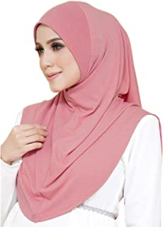 FANA 1 Piece Premium Boutique Quality Cotton Knit Slip-On Easy Hijab