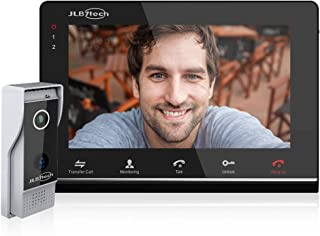 """JLB7Tech Video Doorbell Intercom System,4-Wire 7"""" Monitor Door Phone with IR Night Version Camera,Dual-Way Ring Doorbell,Support Remote Unlock,Monitoring,Recording,Snapshot(Don't Work with Wi-Fi)"""