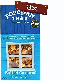 3 x 80g Salted Caramel Gourmet Popcorn Sheds | Palomitas de