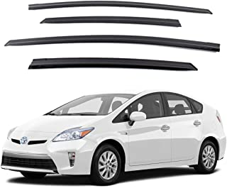Safe Smoke Window Visor Sun Rain Vent Guard 4 Pcs Set for 2009~2015 Toyota Prius Out Channel Visor