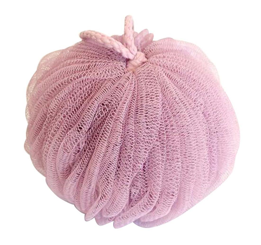覆すでるために花弁バスボールファインメッシュブリスター増粘バスバターフラワー、ピンク