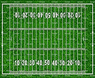 1/4 Sheet - Football Field Birthday - Edible Cake/Cupcake Party Topper - D825