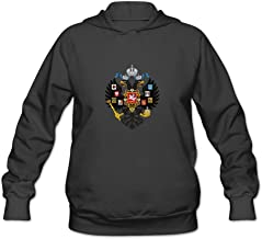 Coat Of Arms Of Russian Nerd 100% Cotton Long Sleeve Hoodie For Women's
