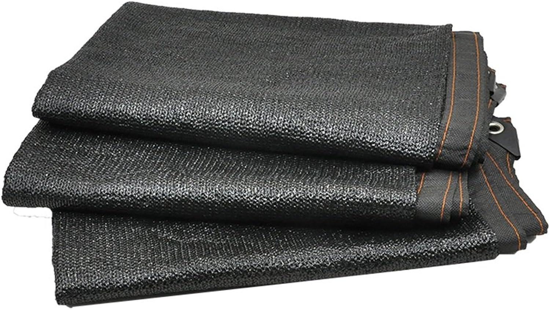 ALUA Shading net warp and Weft Woven Black 8pin net encryption Thickening Balcony Garden Outdoor Sunshade net Shading Rate 85% (Size   3  10m)