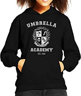 Cloud City 7 Umbrella Academy Varsity School Crest Kid's Hooded Sweatshirt