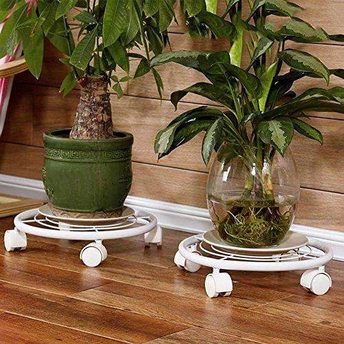 QFF Plateau de plateau rond en forme de plateau / cadre de pot mobile / grand jardin de jardin de jardin ( Couleur : Blanc )