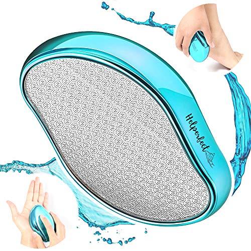 Helperfect® 2in1 Hornhaut Fußfeile Nass & Trocken - Hochwirksamer Nano Glas Hornhautentferner - Samtweiche Füsse sicher & schnell, direkt nach der ersten Anwendung