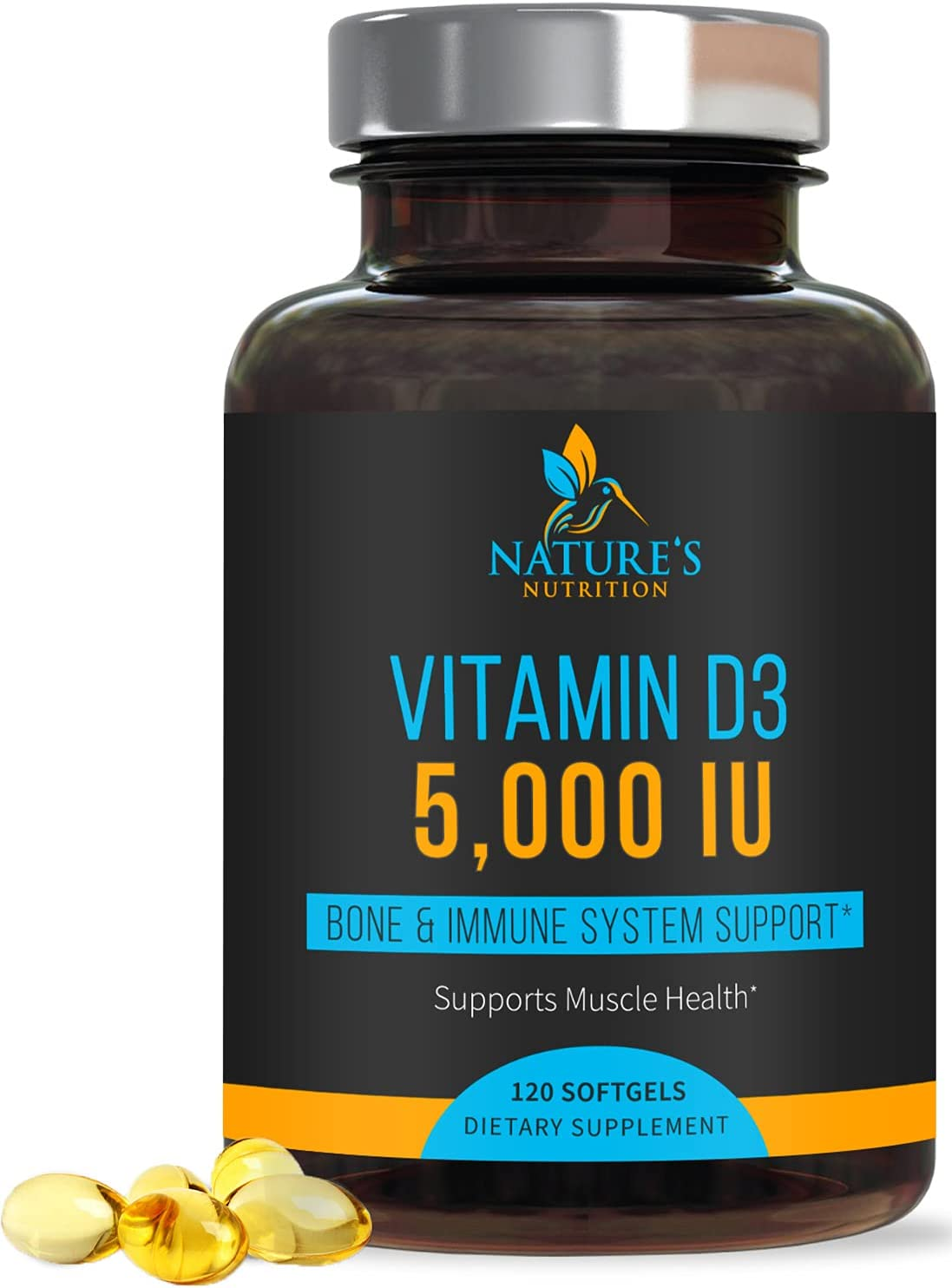 Vitamin D3 5 Wholesale Max 69% OFF 000 iu - Support Concentrated Highly for Immune