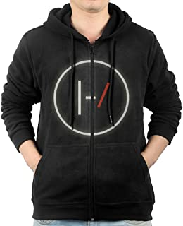 Mens Twenty One Pilots Flag Zip Up Hoodie Sweatshirt
