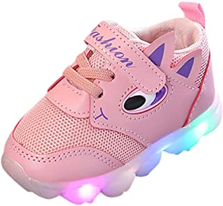 Non-Slip Toddler with Lights for Kids, Sneakers Breathable Pure Color, Children's Trainers Digital Shoes 70% Discount, FULLSUNNY