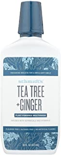 Schmidt's Deodorant, Mouthwash Tee Tree Ginger, 16 Fl Oz