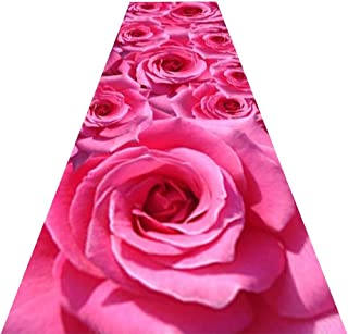 YANZHEN Hallway Runner Rugs Floral Pattern Non-Slip Simple Water Absorption Thickness 7mm Polypropylene, 3 Style 6 Size (C...