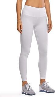 CRZ YOGA Damen Hohe Taille Joggen Yoga Leggings mit Verdeckte Seitentaschen-63cm