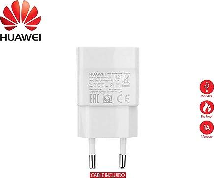 Original Travel Charger Cargador en blanco Huawei HW-050100E01 + Cable de datos Huawei para Huawei P8, P8 Lite, P9 Lite