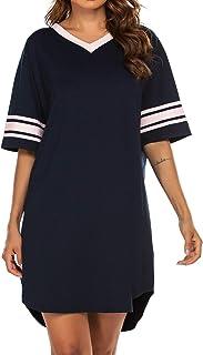 Women's Nightgown, Cotton Novelty Sleepshirts V Neck...