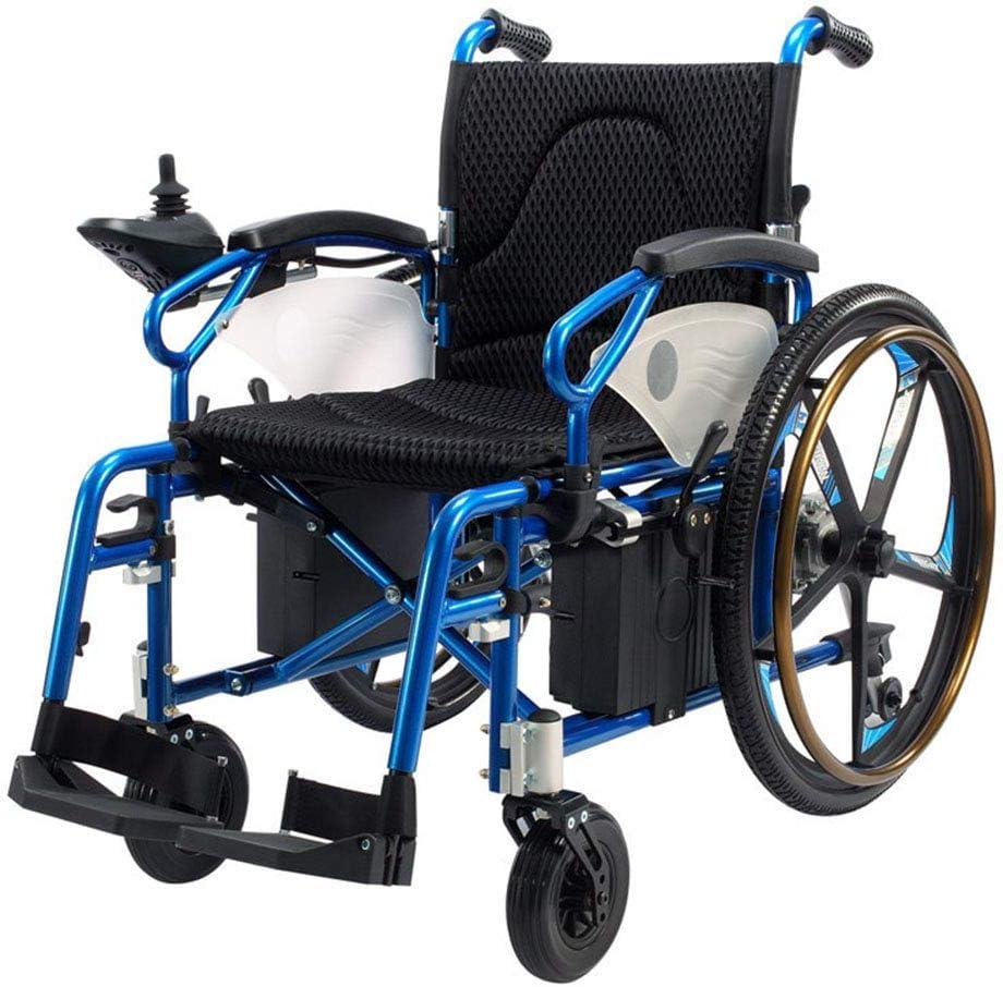 HYCy Scooter eléctrico de Aluminio Plegable para discapacitados Trolley de Viaje Scooter