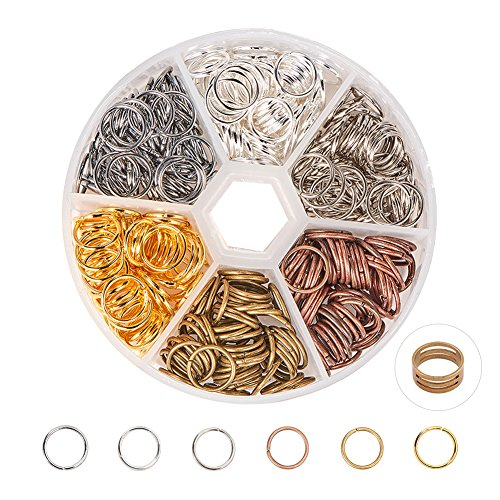 pandahall Elite 10 mm Eisen Silber Gold Biegeringe
