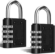 2 Pack Combination Digital Padlocks, FineGood 4 Digit Combination Locks for Shed Door School Gym Pool Locker Suitcase Tool...