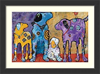 Framed Wall Art Print Cast of Characters: Dogs by Jenny Foster 46.75 x 34.75