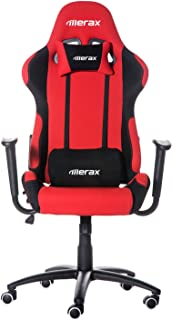 Merax PP019148JAA Ergonomic Car Seat Racing High Back Recliner Gaming Executive Office Computer Chair Headrest and Lumbar Support, Black/Red