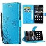 iDoer für Huawei P8 Solide Butterfly PU Ledercase Tasche