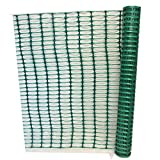 Plastic Barrier Fencing 1m x 15m Green Barrier Mesh - Ideal Fencing for Crowd Control, Dog/Animal Barriers,...