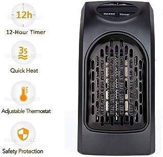 MASO Plug-in-Heater - Calefactor eléctrico portátil con temperatura ajustable, función de temporizador de 12 horas y pantalla LCD para hogar y oficina (400 W, enchufe europeo)