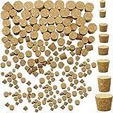 120 Piezas Tapones Corcho Cónicos Tapón de Botella Vino de Madera Tapones Corcho Cónicos de Botellas Corchos de Vino de Madera Blanda Natural Corchos Reemplazo Manualidades, 8 Tamaños