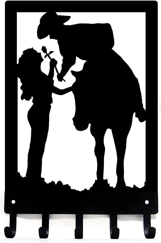 Cowboy Cowgirl & pink - Romantic Couple - Key Rack