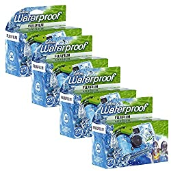 top 10 underwater disposable cameras Fujifilm Quick Snap 35mm Waterproof Disposable Camera x4 (Blue / Green / White)