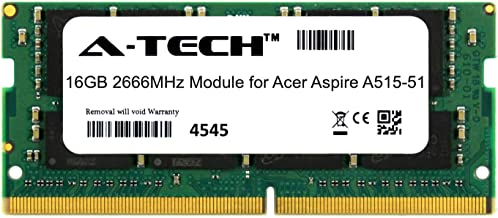 A-Tech 16GB Module for Acer Aspire A515-51 Laptop & Notebook Compatible DDR4 2666Mhz Memory Ram (ATMS267759A25832X1)