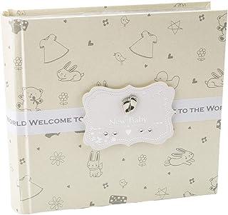 Happy Homewares �lbum de Fotos Color Crema para bebé recién Nacido con 80 Fotos 4x6 - Idea de Regalo para recién Nacido