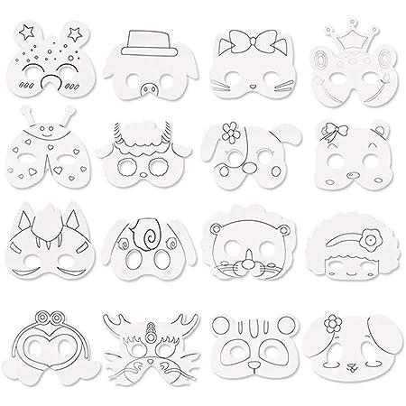 Bestzy Tiermasken Kinder Mit Strasssteine Kindermasken Zum Bemalen Tiere Tiermasken Fur Kinder Ausmalen Fur Kinder Ideal Zum Kindergeburtstag Und Karneval 16 Stuck Amazon De Spielzeug