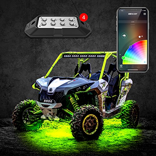 4pc 6W Rock Light with XKchrome Smartphone App-Enabled Bluetooth Standard Kit