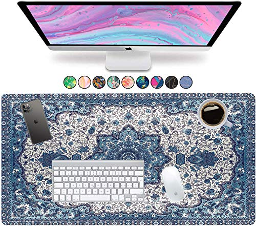 """French Koko Large Mouse Pad, Desk Mat, Keyboard Pad, Desktop Home Office School Cute Decor Big Extended Laptop Protector Computer Accessories Mousepad Fun Workspace XL 31""""x15"""" (Persian Oriental Rug)"""