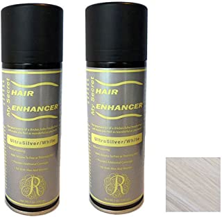 My Secret Hair Enhancer ULTRA SILVER/WHITE for thinning hair loss 5 ounces , Two Pack