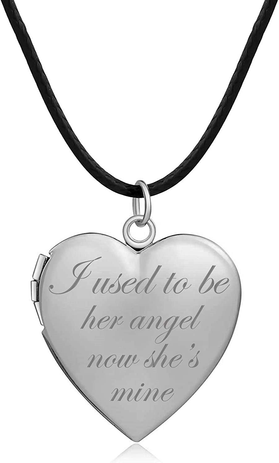 Latigerf I Used Spasm price to Cheap sale Be Her Angel Heart She's Now Mine Locket Neck