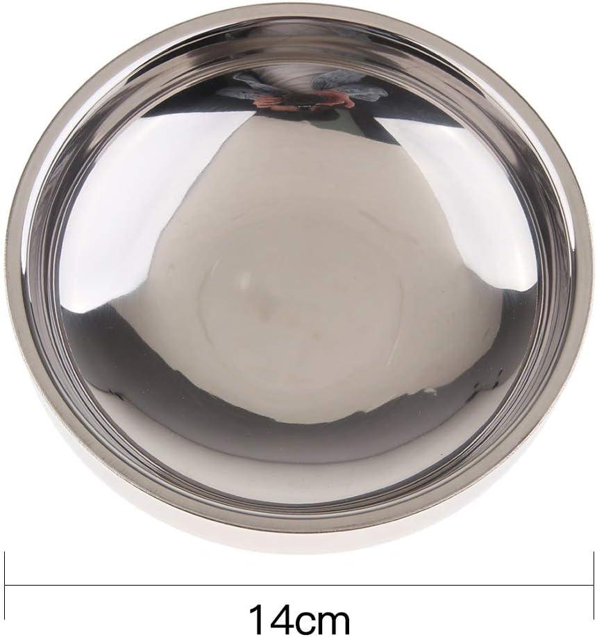 9cm PETSOLA Bol /à Double Paroi Assiette Forme Ronde Facile /à Transporter