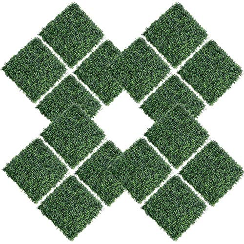 "12PCS 20""x20"" Artificial Boxwood Panels"