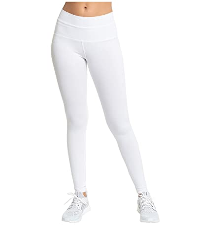 Hard Tail Organic High-Rise Ankle Leggings (White) Women