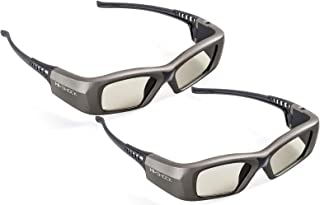 2X Hi-SHOCK Oxid Diamond | Dual Play RF/BT Pro 3D Glasses for HDR/FullHD / 4k 3DTV, RF 3D projectors comp. with SSG-3570CR / TDG-BT500A / AN3DG35 / TY-ER3D6ME / FPT-AG04 / AG-S350 / FPS3D08